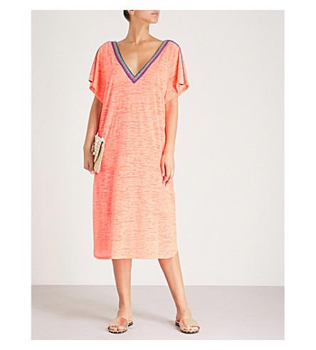 PITUSA V-BACK COTTON-BLEND DRESS