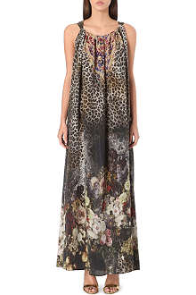 CAMILLA Silk drawstring maxi dress