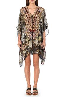 CAMILLA Leopard print silk kaftan