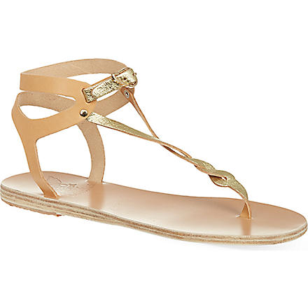 ANCIENT GREEK SANDALS Ismene sandals (Nat/cracked gold