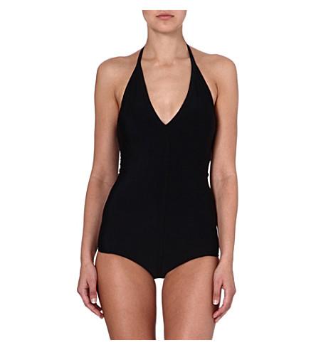 RICK OWENS Halterneck swimsuit (Black