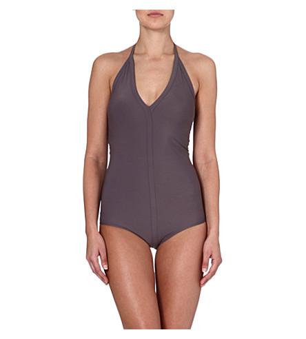 RICK OWENS Halterneck swimsuit (Mauve