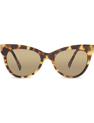 NORMA KAMALI Tortoise shell cat eye sunglasses