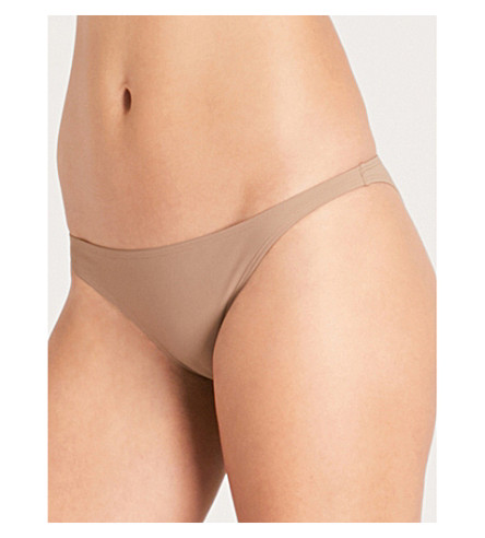 TORY BURCH Solid hipster-fit bikini bottoms (Cocoa