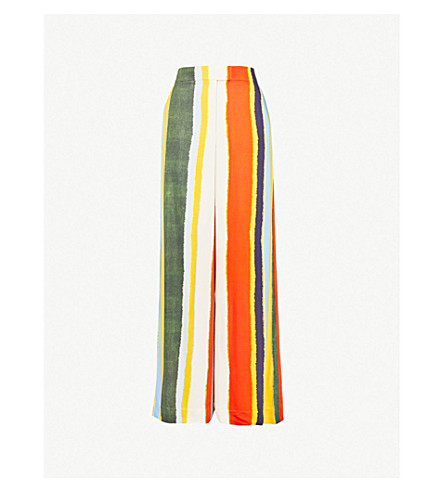 TORY BURCH Fiona striped wide-leg trousers (Balloon+stripe