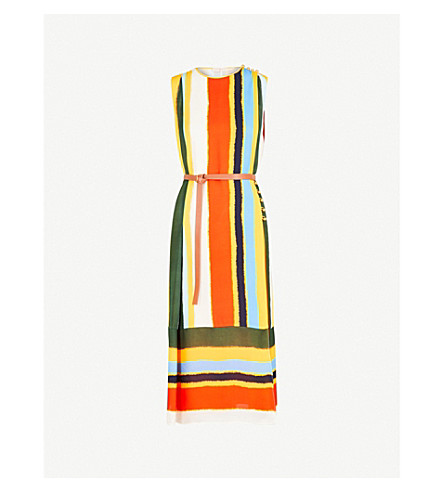 TORY BURCH Ballon striped silk dress (Balloon+stripe