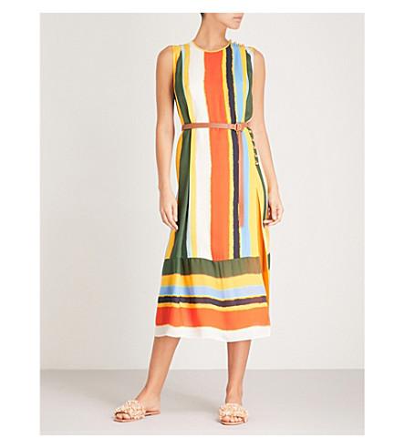TORY BURCH Ballon striped silk dress (Balloon+stripe