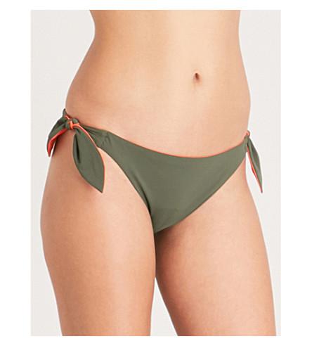 TORY BURCH Biarritz reversible bikini bottoms (Green+tangerine
