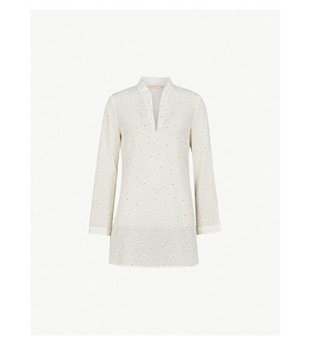 TORY BURCH Stephanie daisy-print cotton and silk-blend tunic (Daisy