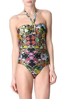 ZIMMERMANN Flourishing halterneck swimsuit