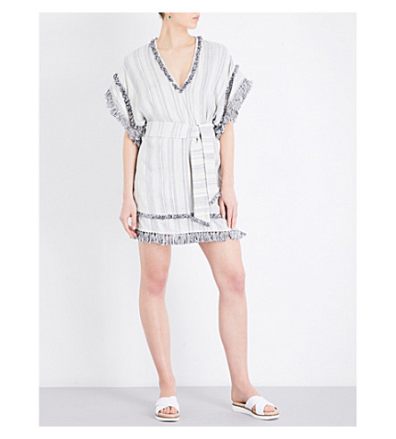 ZIMMERMANN Divinity striped linen and cotton-blend dress (Stripe
