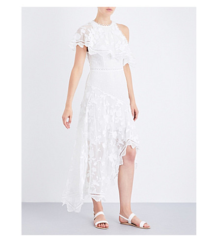 ZIMMERMANN Mercer Bird Floating silk-georgette midi dress (Ivory
