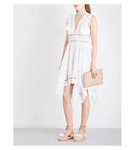 ZIMMERMANN Divinity Wheel embroidered cotton dress (Ivory