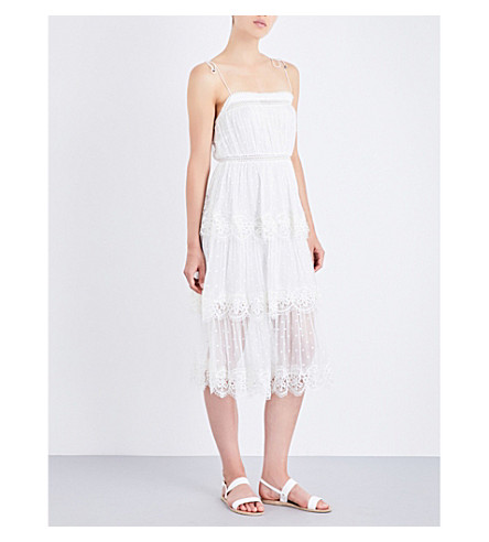 ZIMMERMANN Meridian Circle Lace silk-georgette dress (Ivory