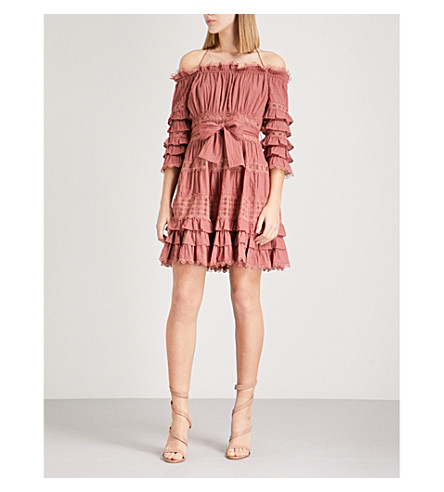 ZIMMERMANN Corsair Frill Tier cotton-poplin mini dress (Vintage+rose