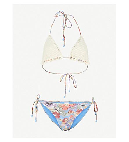 ZIMMERMANN Lovelorn Crochet triangle bikini (Mismatched
