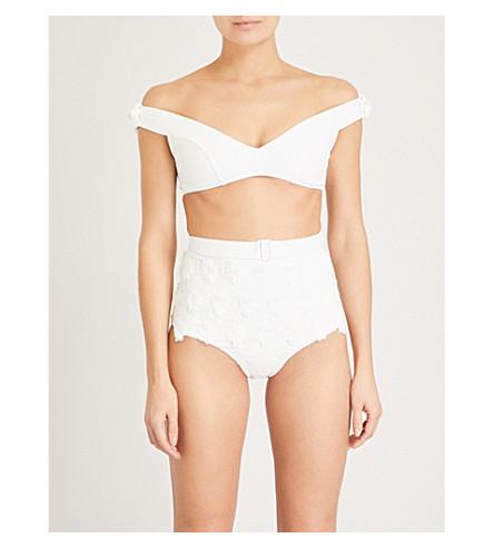 ZIMMERMANN Lumino Daisy high-rise bikini (Natural