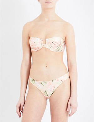 ZIMMERMANN Prima hydrangea bikini top