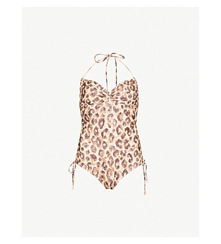 ZIMMERMANN Melody ruched swimsuit (Leopard