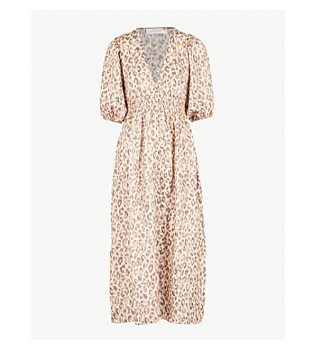 ZIMMERMANN Melody leopard-print linen dress (Leopard