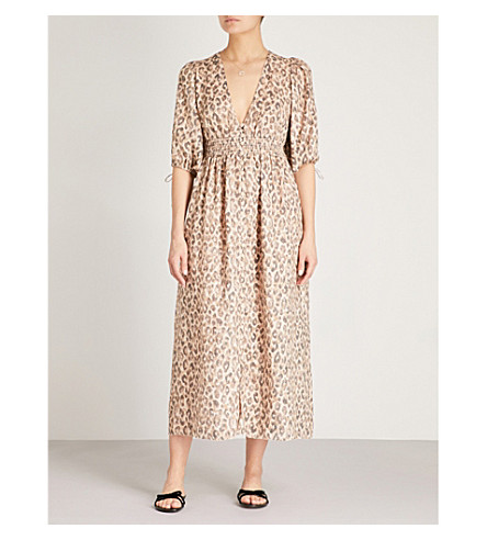 ZIMMERMANN Melody leopard-print linen dress (Leopard