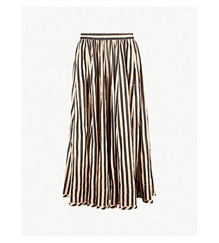 ZIMMERMANN Jaya striped cotton skirt (Stripe