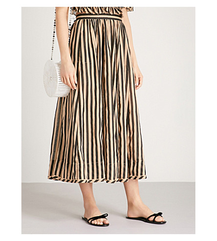 ZIMMERMANN Jaya striped cotton skirt (Stripe
