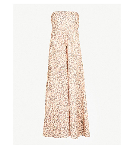 ZIMMERMANN Melody leopard-print linen midi dress (Leopard