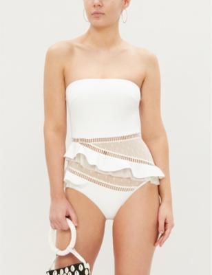 Allia mesh-panel swimsuit