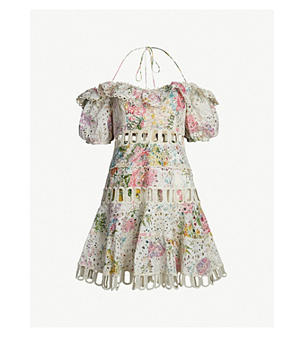 ZIMMERMANN Heather off-the-shoulder cotton dress (Garden floral
