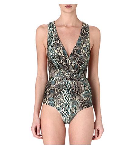ZIMMERMANN Vivid Tuck swimsuit (Snake