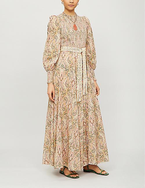 ZIMMERMANN Freja paisley-pattern cotton maxi dress