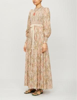 Freja paisley-pattern cotton maxi dress