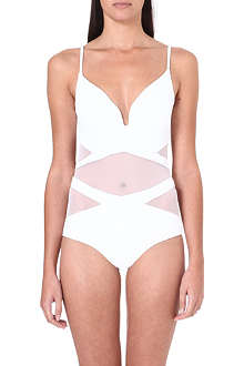 ZIMMERMANN Georgia mesh-panelled plunge swimsuit