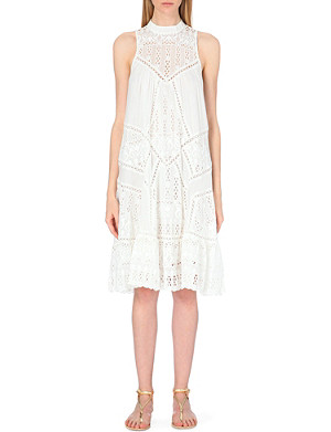 ZIMMERMANN Embroidered cotton and silk-blend dress