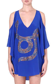 LAZUL Embellished silk tunic