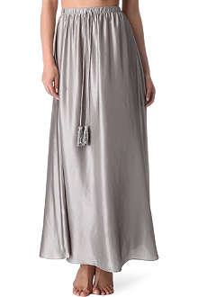 MARIE FRANCE VAN DAMME Silk-satin long line skirt