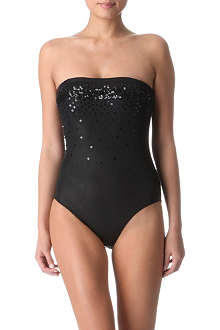 MARIE FRANCE VAN DAMME Sequinned bustier swimsuit