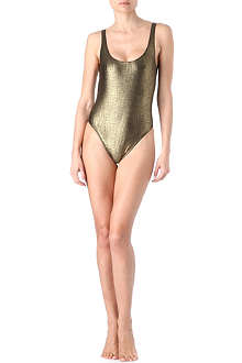 MARIE FRANCE VAN DAMME Rafia swimsuit