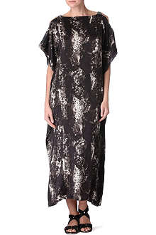 MARIE FRANCE VAN DAMME Satin open-sleeve kaftan