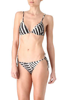 MARIE FRANCE VAN DAMME Printed triangle bikini