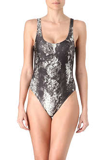 MARIE FRANCE VAN DAMME Printed swimsuit