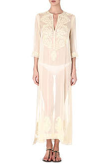 MARIE FRANCE VAN DAMME Kurta long silk kaftan