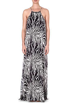 MARIE FRANCE VAN DAMME Animal print maxi dress