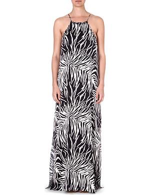 MARIE FRANCE VAN DAMME Animal print maxi dress