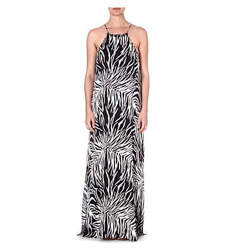 MARIE FRANCE VAN DAMME Animal print maxi dress (Palm black/white