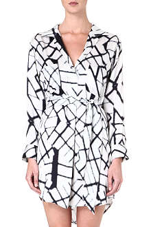 MARIE FRANCE VAN DAMME Printed silk blouse dress