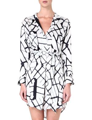 MARIE FRANCE VAN DAMME Printed silk blouse dress