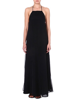 MARIE FRANCE VAN DAMME Layered silk maxi dress