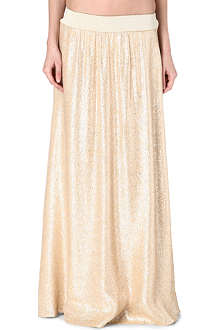 MARIE FRANCE VAN DAMME Metallic maxi skirt